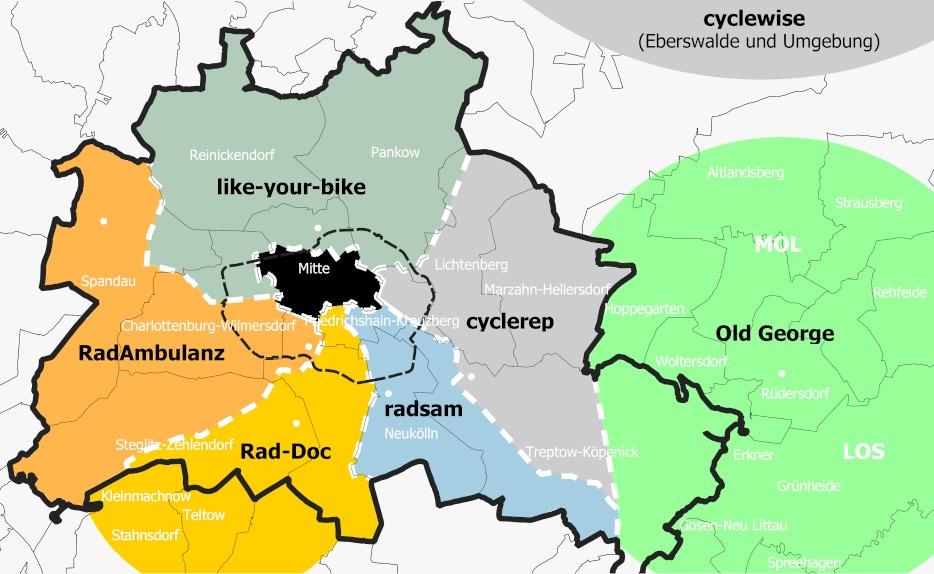Karte der Geschäftsgebiete